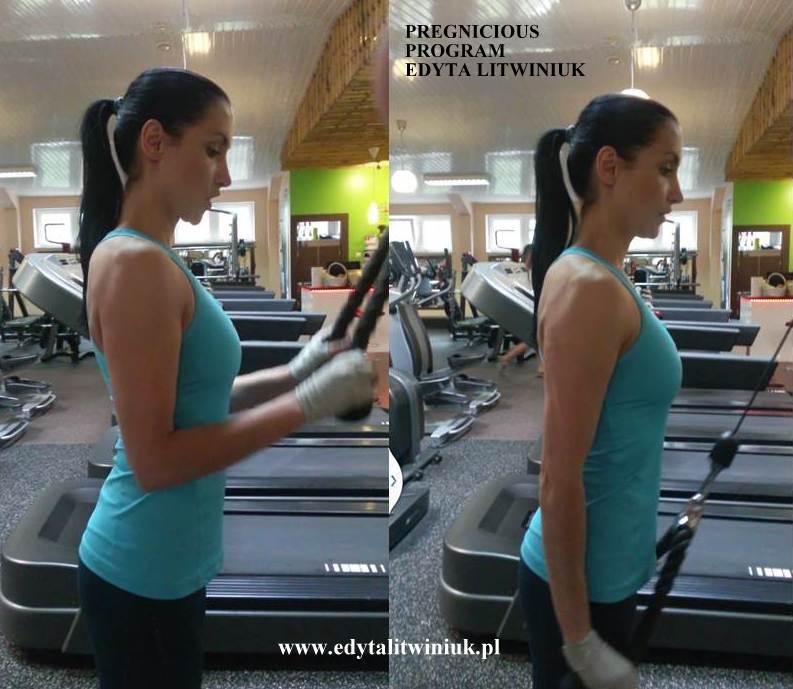 triceps1 Ćwiczenia na siłowni dla ciężarnej