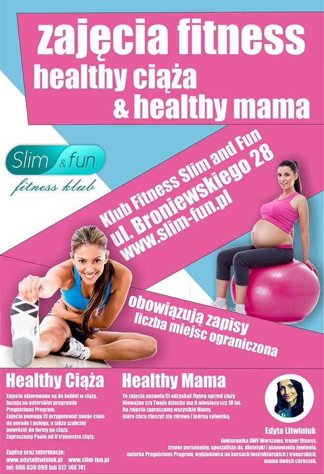 zajęcia fitness Zajęcia fitness Healthy Ciąża i Healthy Mama