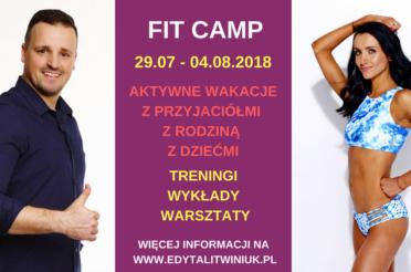 FIT CAMP 2018 – OFERTA DLA DOROSŁYCH!
