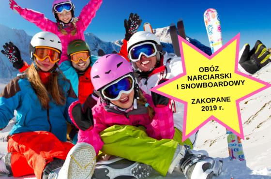 OBÓZ NARCIARSKI I SNOWBOARDOWY-FERIE 2019 r.