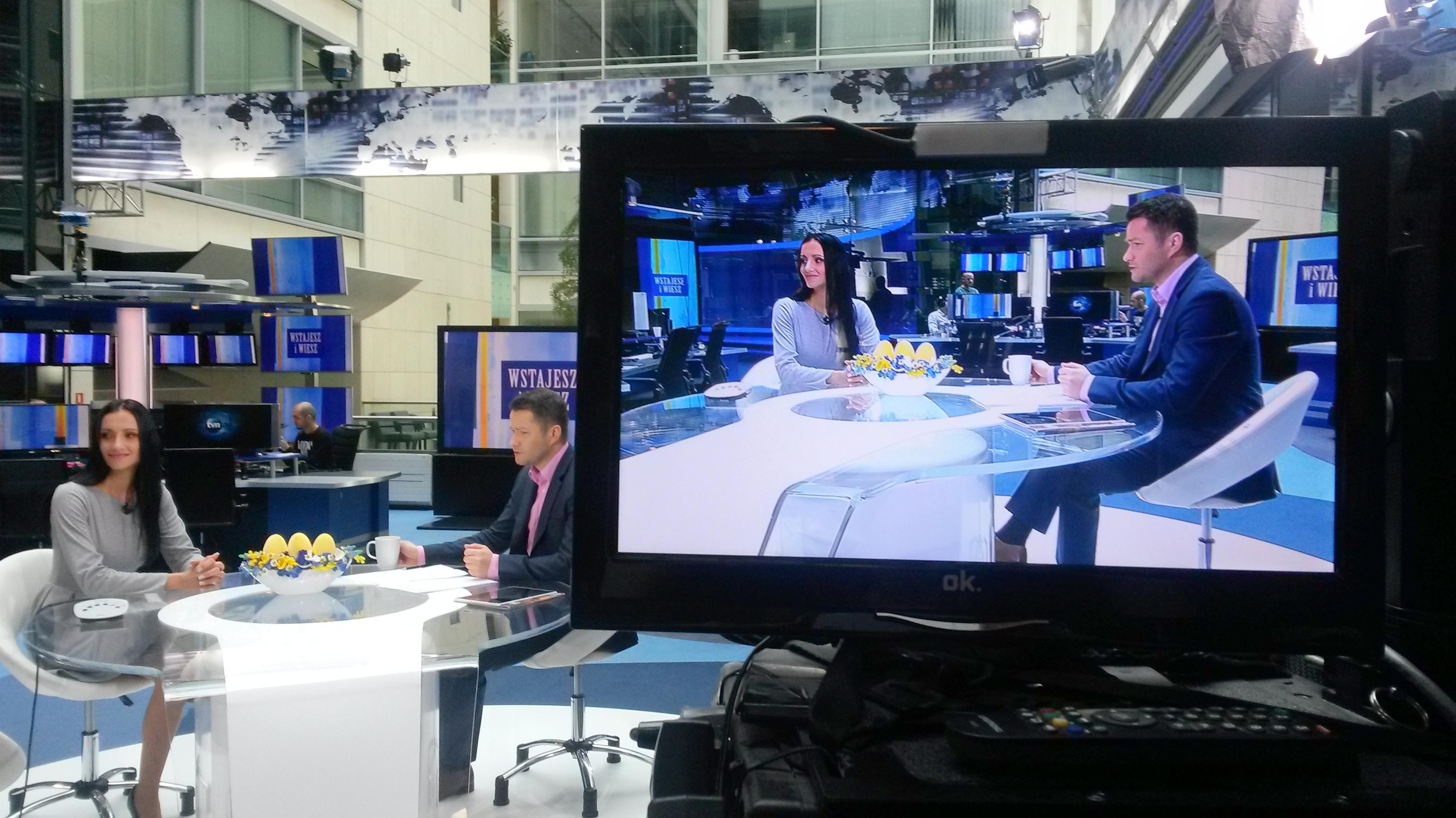 20150406 084144 Kolejna wizyta w studiu tvn24!